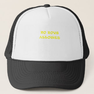 No Boys Allowed Trucker Hat