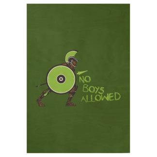 No Boys Allowed! Wood Poster