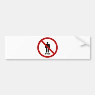 """No Boys"" design Bumper Sticker"