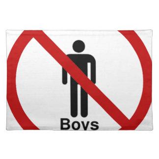 """No Boys"" design Cloth Placemat"