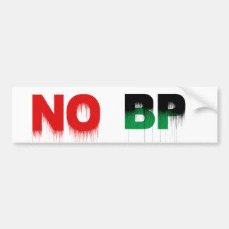 No BP Car Bumper Sticker