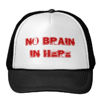 NO brain into here Hat