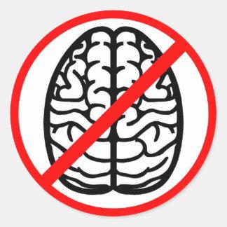 No Brains Tag Label