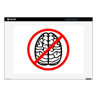 No Brains Zombie Protector Laptop Skin