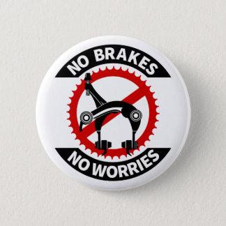 No Brakes No Worries Fixed Gear BMX Track Button