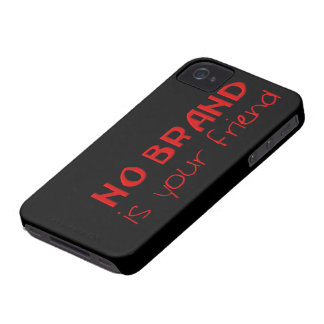 No Brand Is Your Friend anti-consumerist slogan Case-Mate iPhone 4 Case