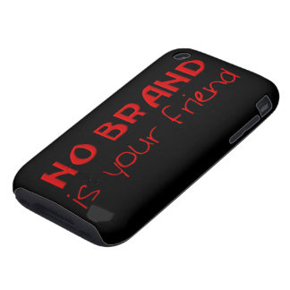 No Brand Is Your Friend anti-consumerist slogan iPhone 3 Tough Case