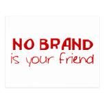 No Brand Is Your Friend anti-consumerist slogan Postcards