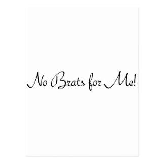 No Brats for Me #1 Postcard