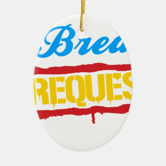 No Breasts No Requests Ceramic Ornament