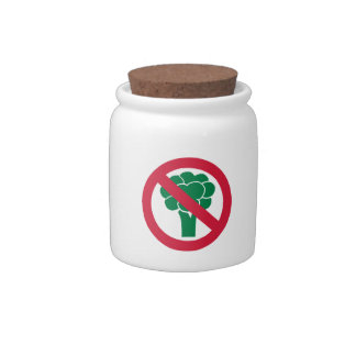 No broccoli candy jar