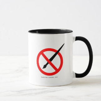 NO BRUSHES! Artists need all the help we can get! Mug