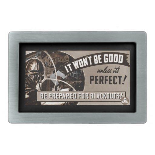 No bueno a menos que sea perfecto hebilla cinturón rectangular