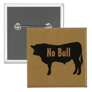 No Bull Angus Bull Button