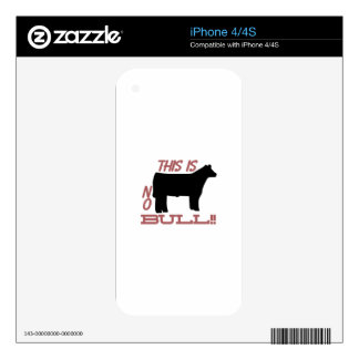 No Bull! Decals For iPhone 4