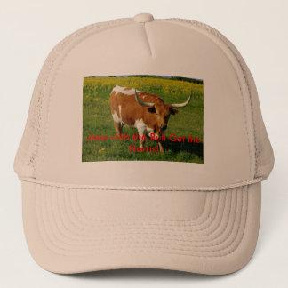 "No bull hat Featuring Texas Longhorn ""Bob"""