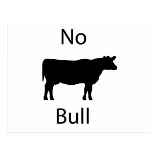 No bull postcard