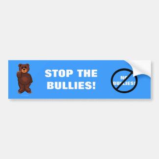 No Bullies Bear Bumper Sticker
