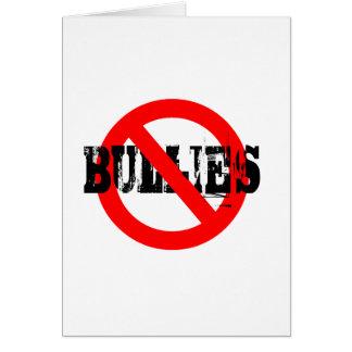 No Bullies Card