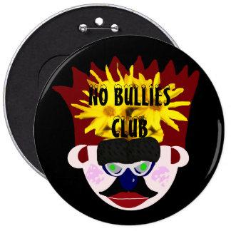 No Bullies Club Mr. Rudy Man's Crown Face Button