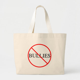 No Bullies Large Tote Bag