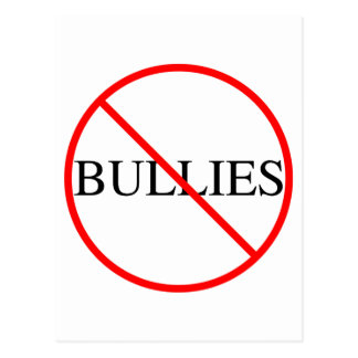 No Bullies Postcard