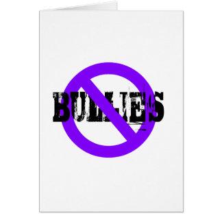 No Bullies purple Card