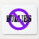 No Bullies purple Mousepads