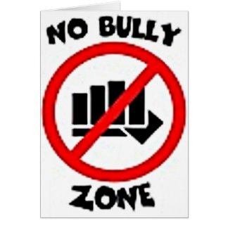 No Bully Mulit Products personalize your text Card