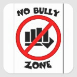 No Bully Mulit Products personalize your text Square Sticker