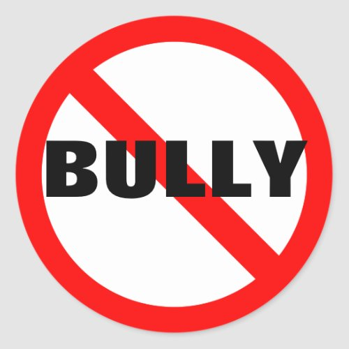 No Bully Stickers zazzle_sticker
