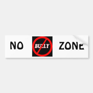 No Bully Zone Bumper Sticker