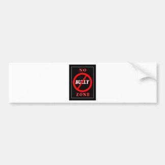 NO Bully Zone Bumper Sticker