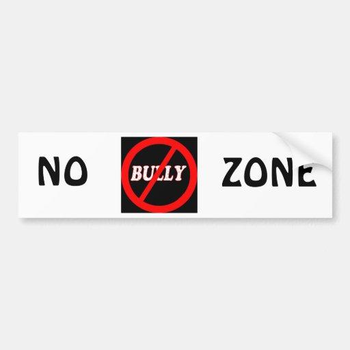 No Bully Zone Car Bumper Sticker
