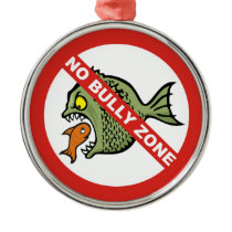 No Bully Zone Metal Ornament