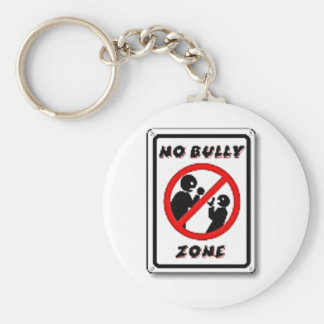 No Bully Zone Personalize for your school home Basic Round Button Keychain
