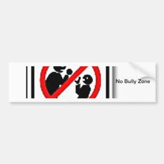 No Bully Zone Personalize for your school home Bumper Sticker