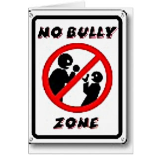 No Bully Zone Personalize for your school home Card