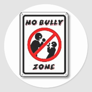 No Bully Zone Personalize for your school home Classic Round Sticker