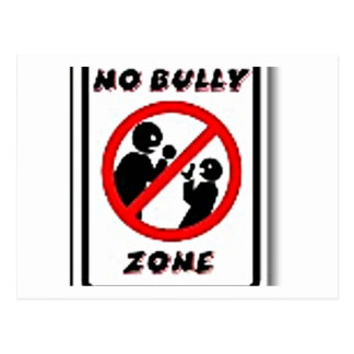 No Bully Zone Personalize for your school home Postcard