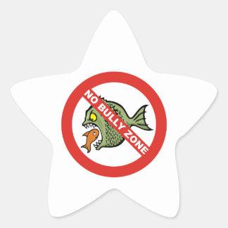 No Bully Zone Star Sticker