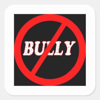 No Bully Zone Square Sticker