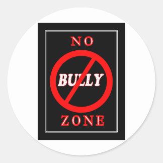 NO Bully Zone Round Sticker