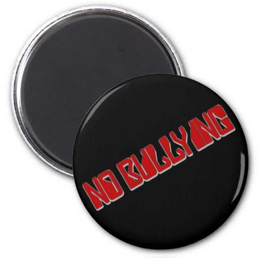 No Bullying 2 Inch Round Magnet