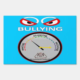 no bullying 3 yard sign
