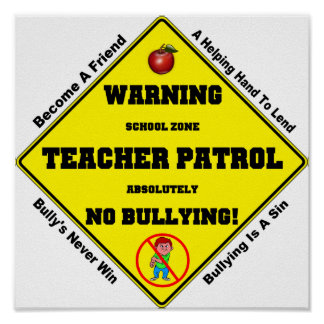 No Bullying Aloud Poster