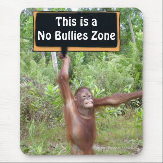 No Bullying Behavior Zone Mouse Pad