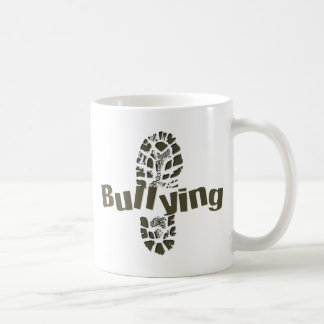 NO bullying Boot Print Classic White Coffee Mug