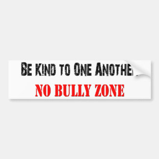 No Bullying Bumper Sticker