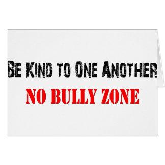 No Bullying Card
